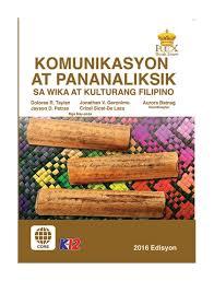 SHS 11- Komunikasyon at Pananaliksik